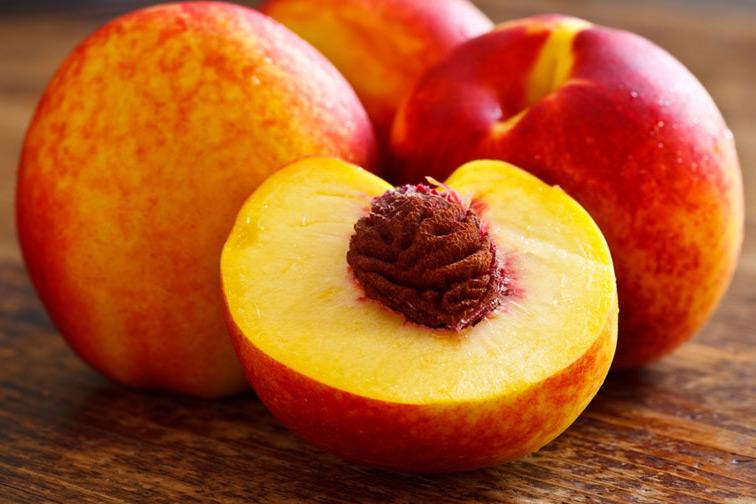 Peach fruit opened photos