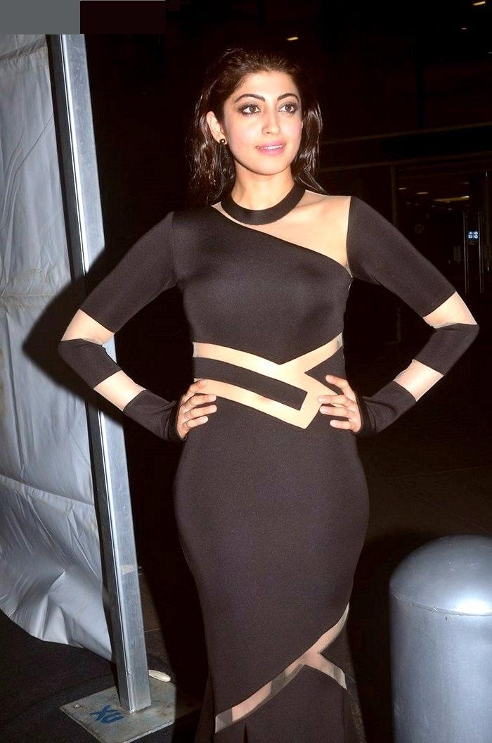 Pranitha subhash black dress pictures