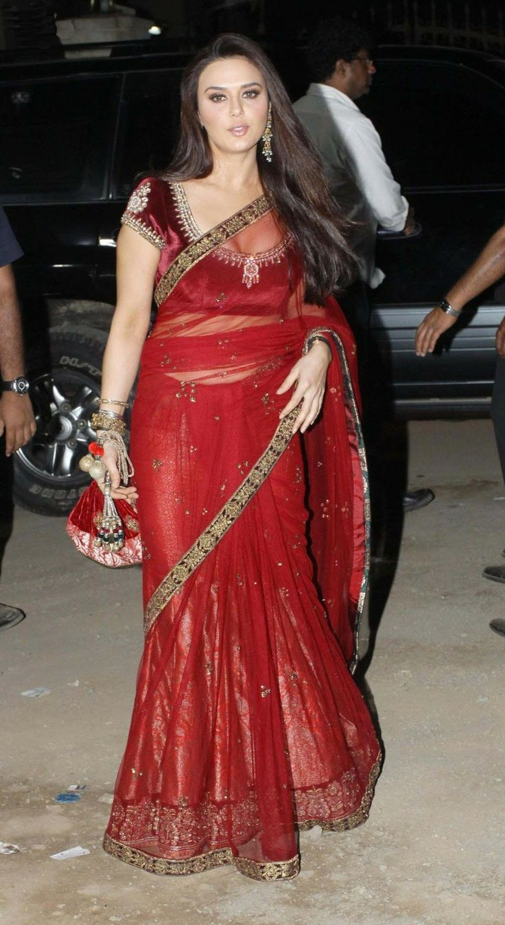 Preity zinta saree in street photos