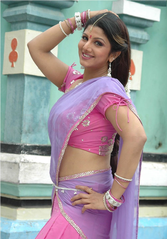 Rambha half saree photos