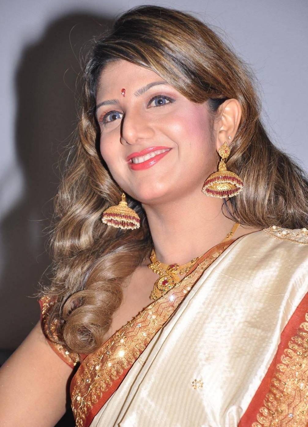 Rambha saree in function photos