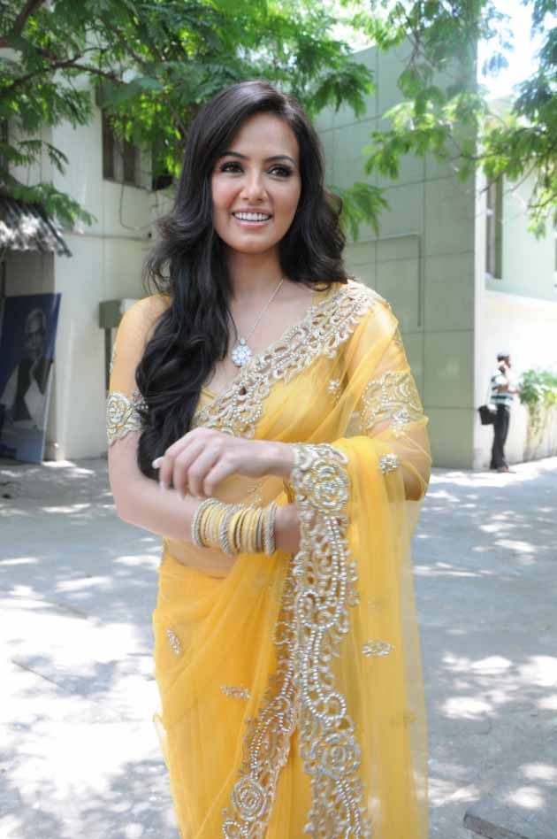 Sana khan saree in public photos