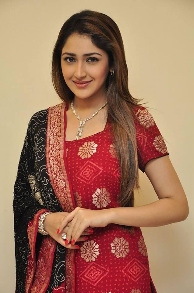 Sayesha saigal shivaay red dress photos
