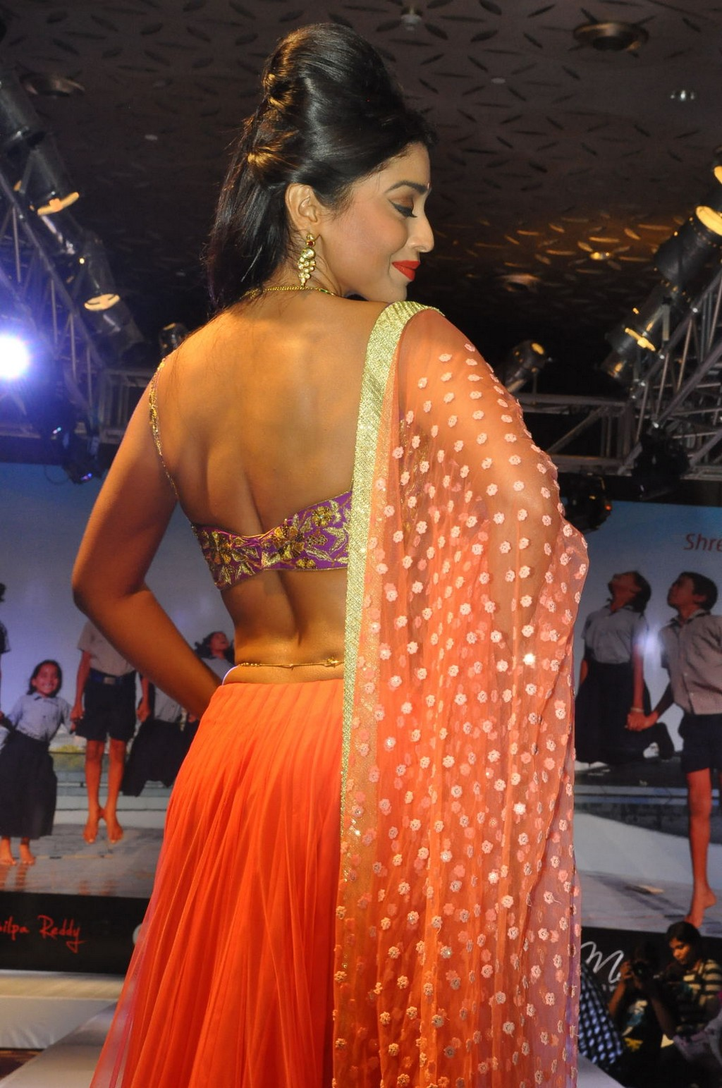 Shriya saran choli dress backless