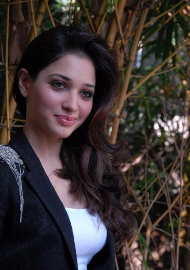 Tamanna black and white dress cute face stills