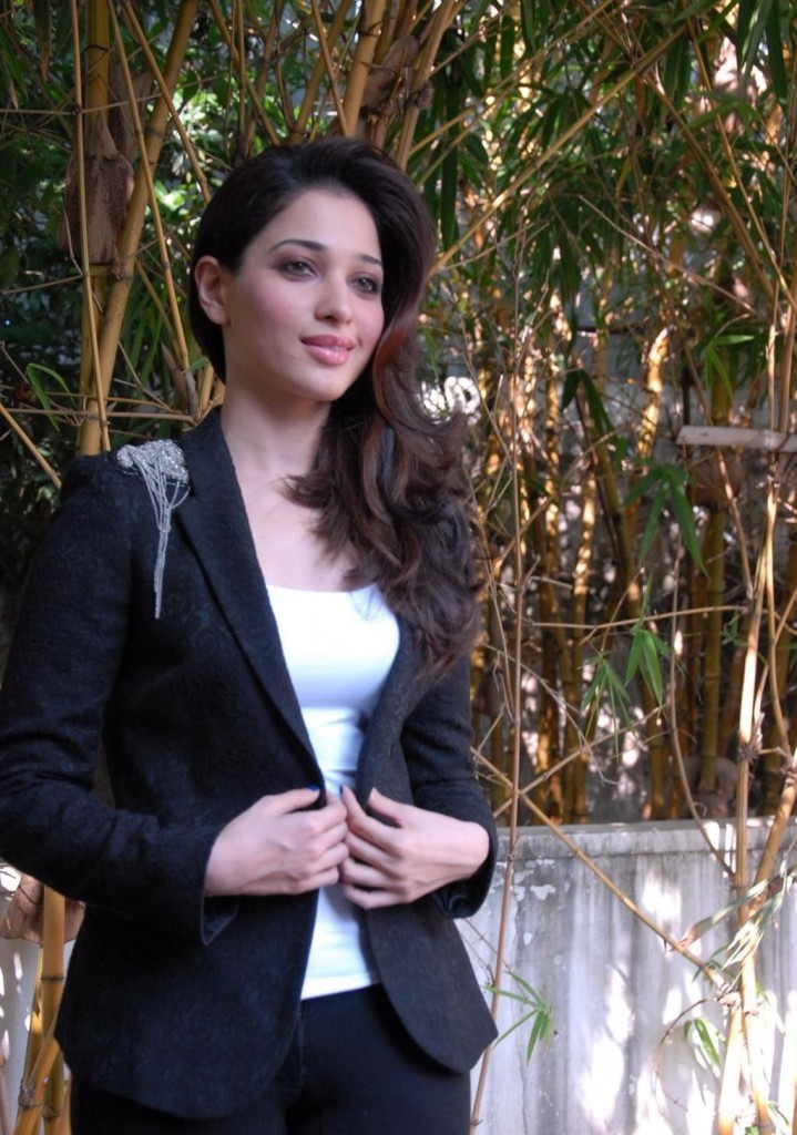 Tamanna black and white dress pictures