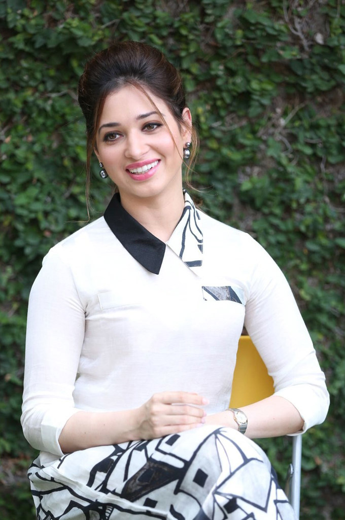 Tamanna fashion white dress photos
