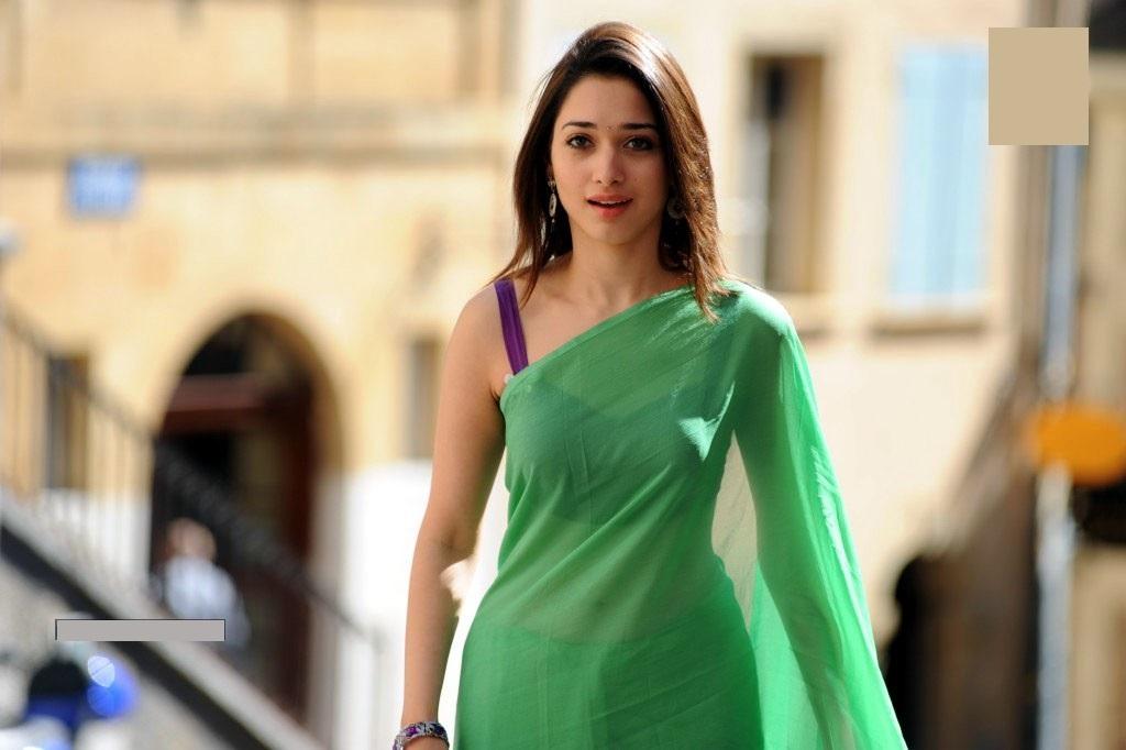 Tamanna green saree smail photos