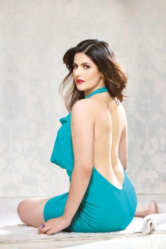 Zareen khan backless photos