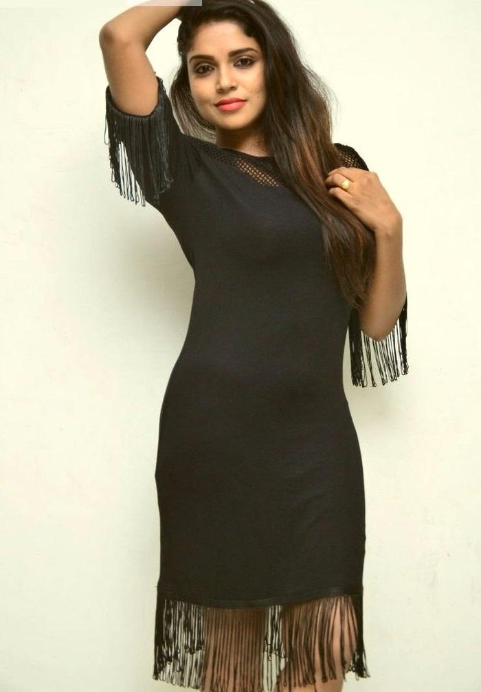 Actress karunya chowdary black dress hd glamour photos