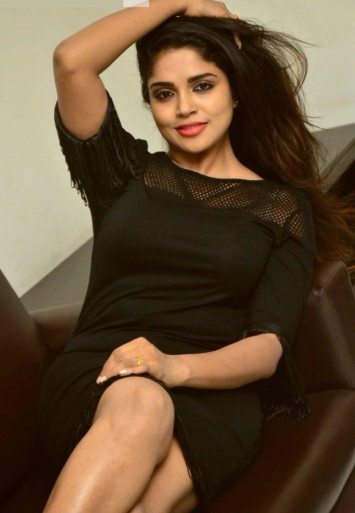 Actress karunya chowdary black dress unseen hd stills