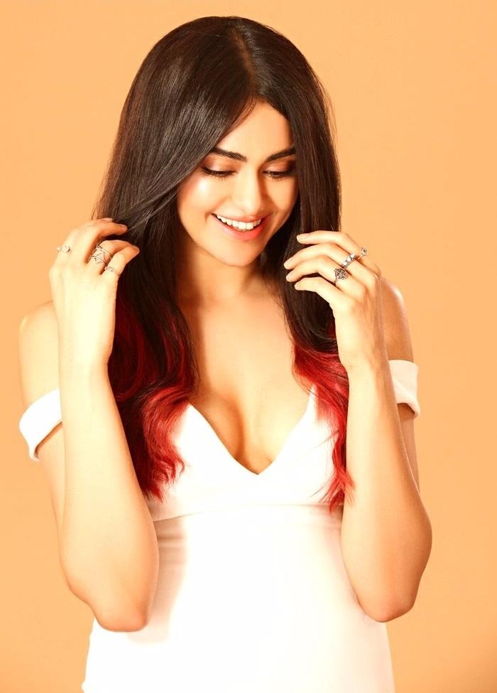 Adah sharma white dress cute slide show