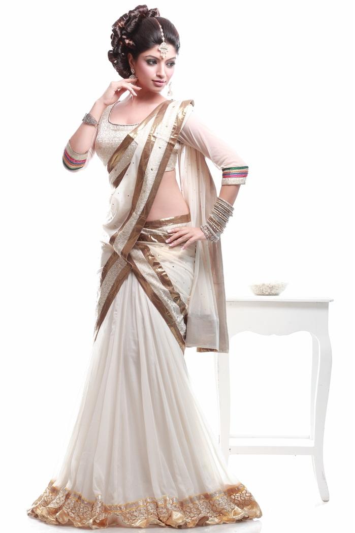 Akanksha puri half saree pictures