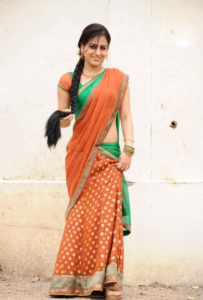 Aksha pardasany half saree photos