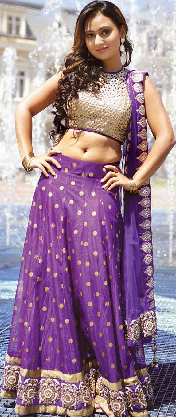 Amoolya half saree photos