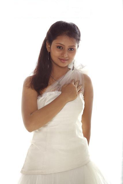 Amoolya white dress photos