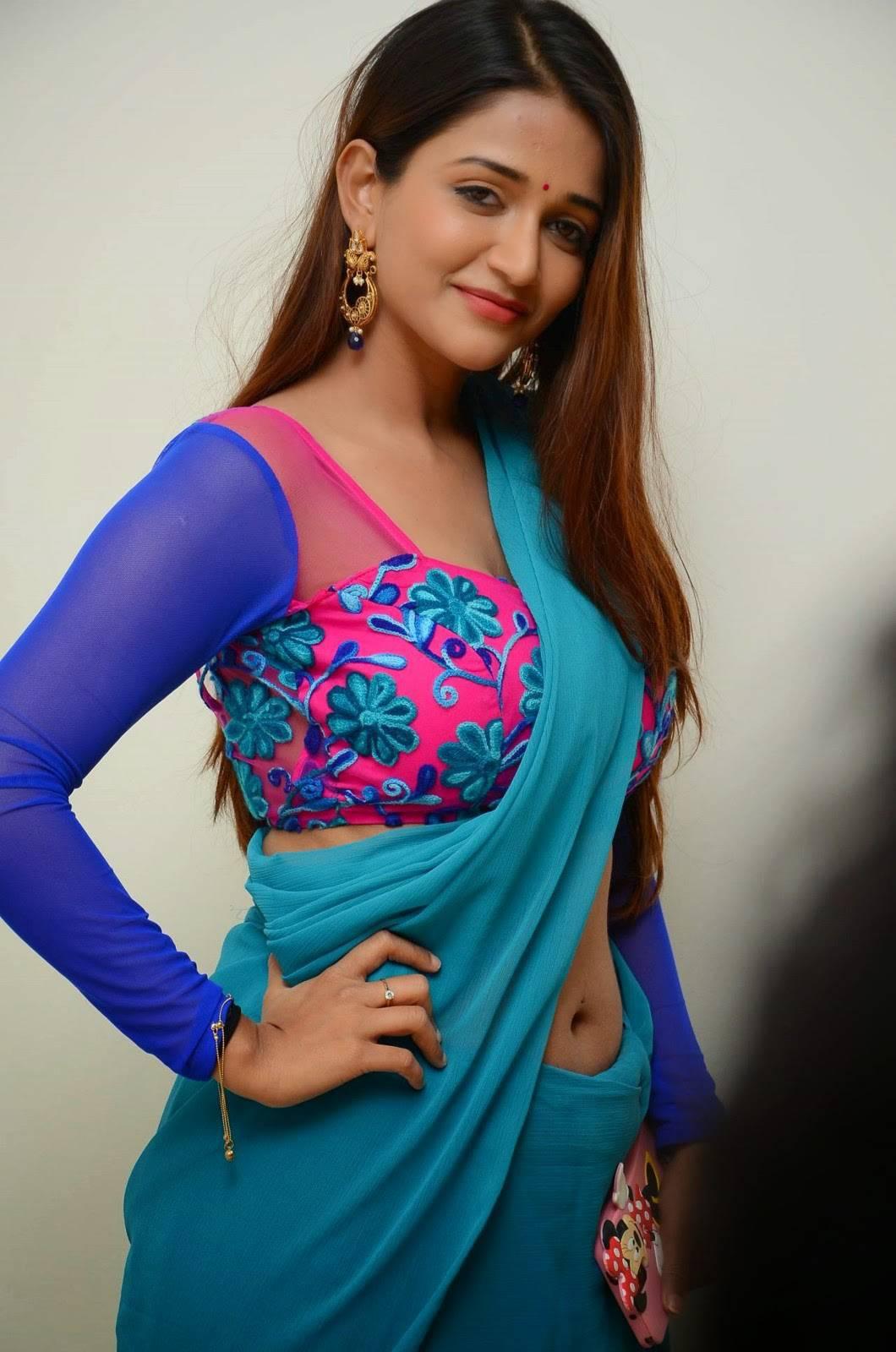 Anaika soti blue saree photos