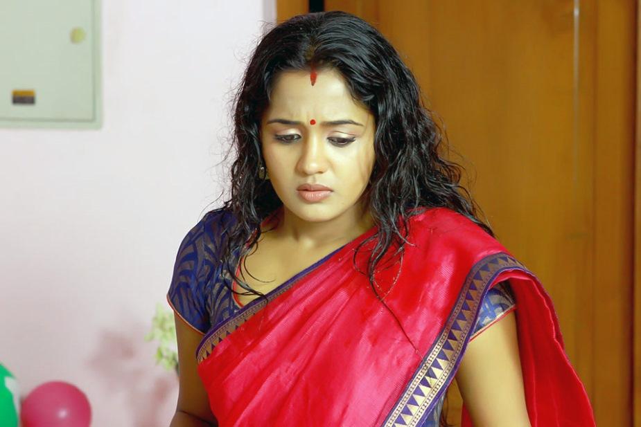 Ananya red saree photos
