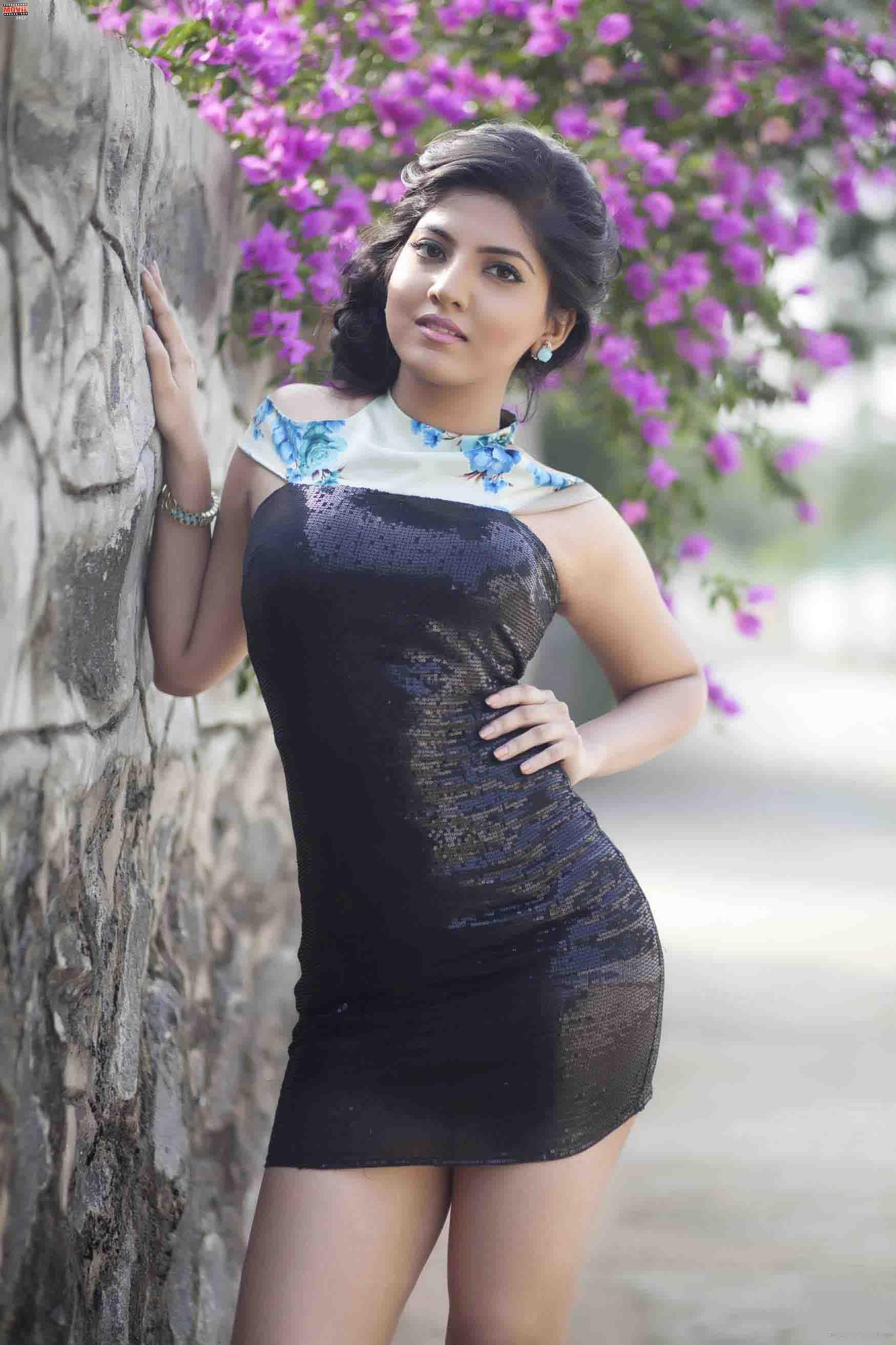 Anaswara kumar mini dress photos