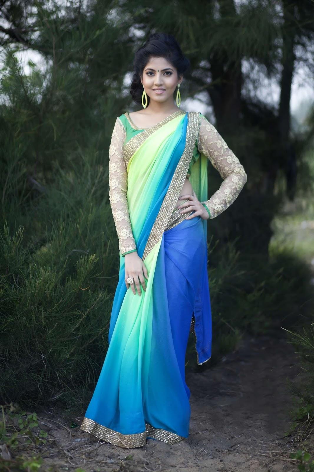 Anaswara kumar saree photos