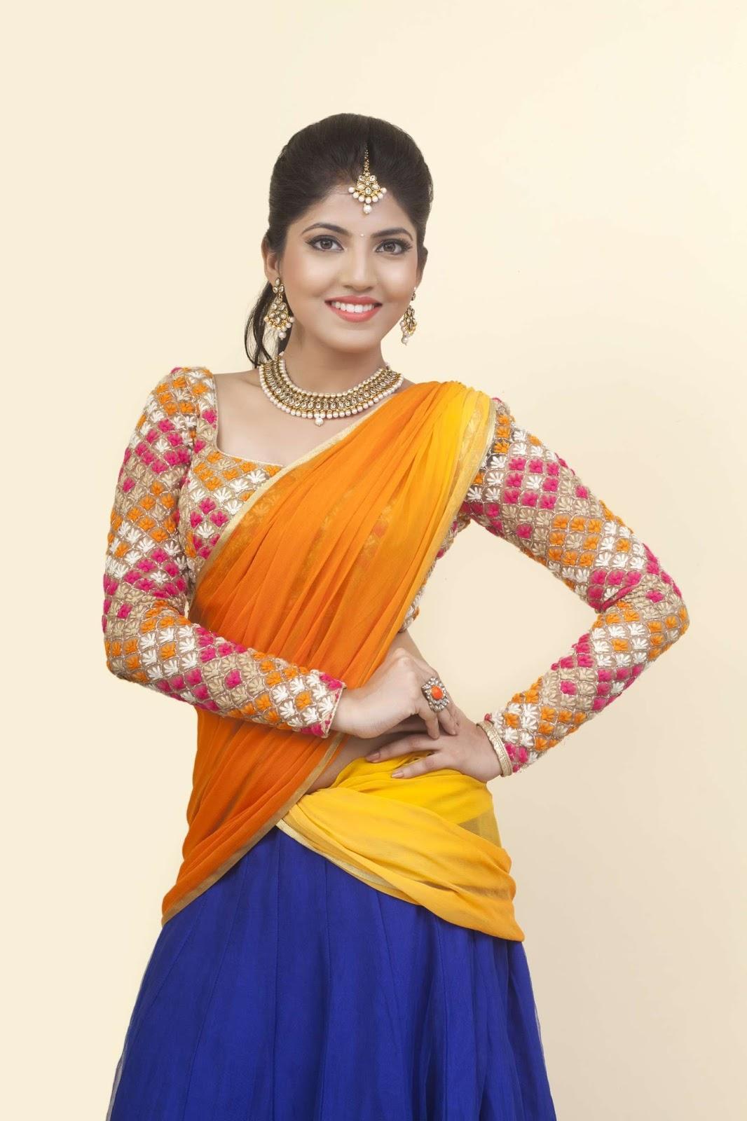 Anaswara kumar saree pictures