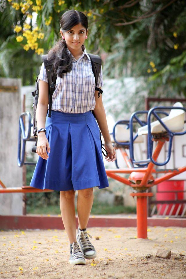 Anaswara kumar school uniform photos