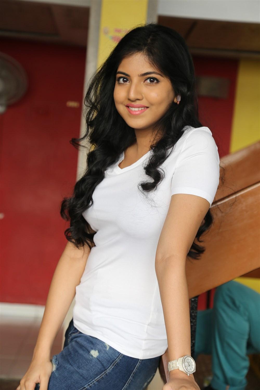 Anaswara kumar white dress photos