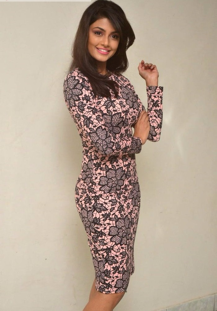 Anisha ambrose black and pink dress photos