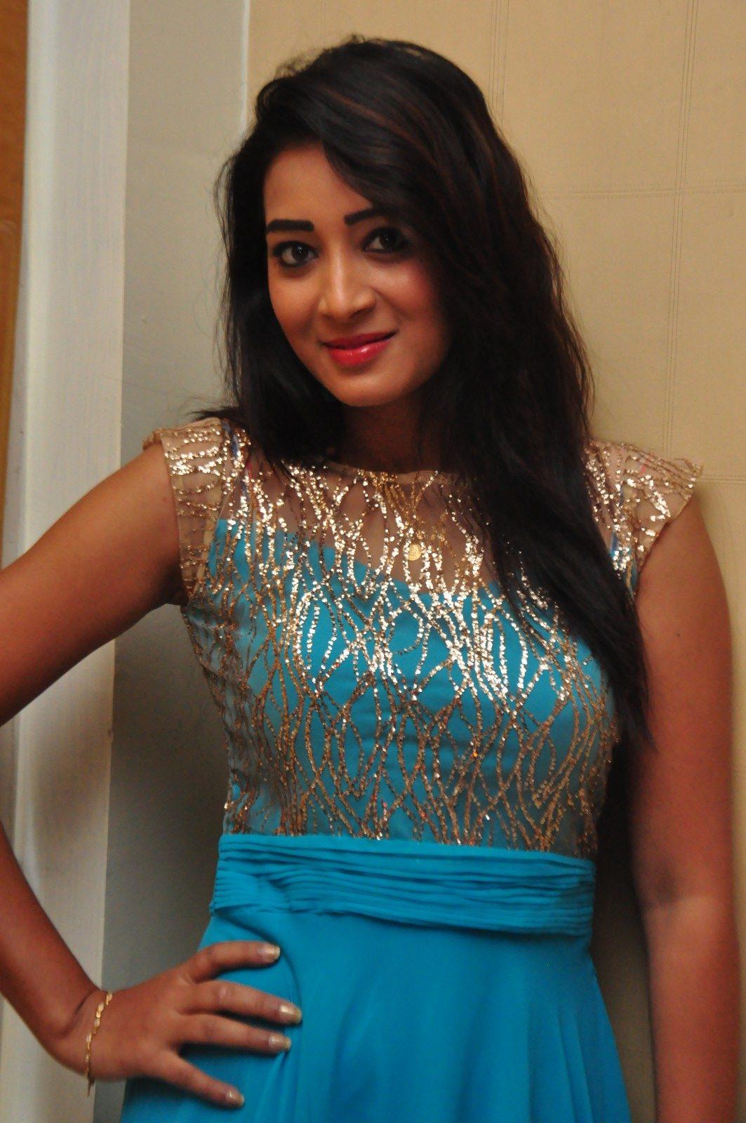 Bhanu tripathi blue dress cute images
