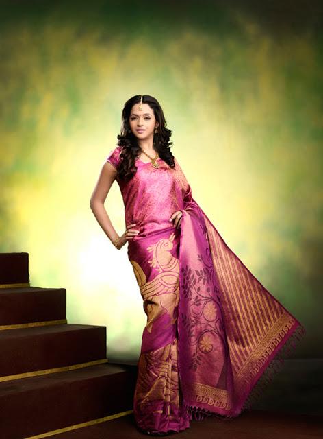 Bhavana saree photoshoot photos