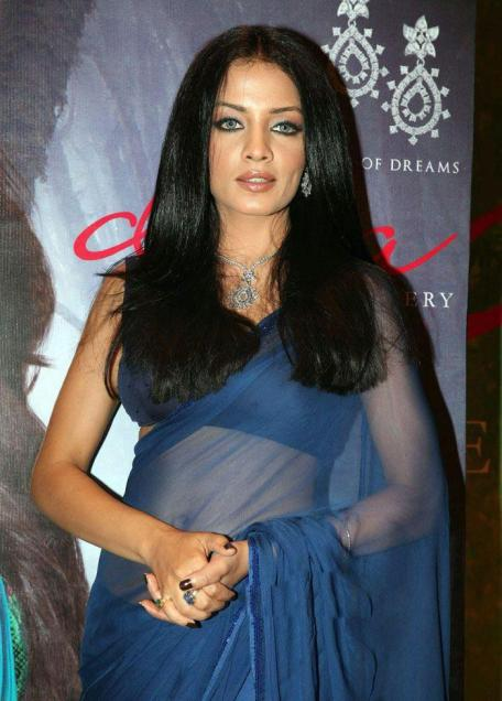 Celina jaitley function in saree photos