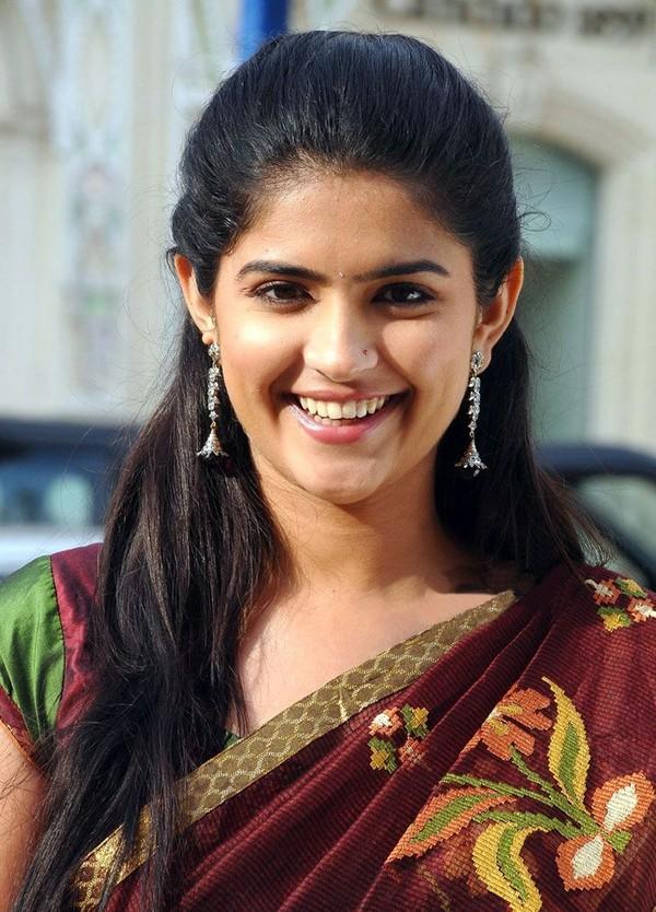 Deeksha seth cute smile in saree photos