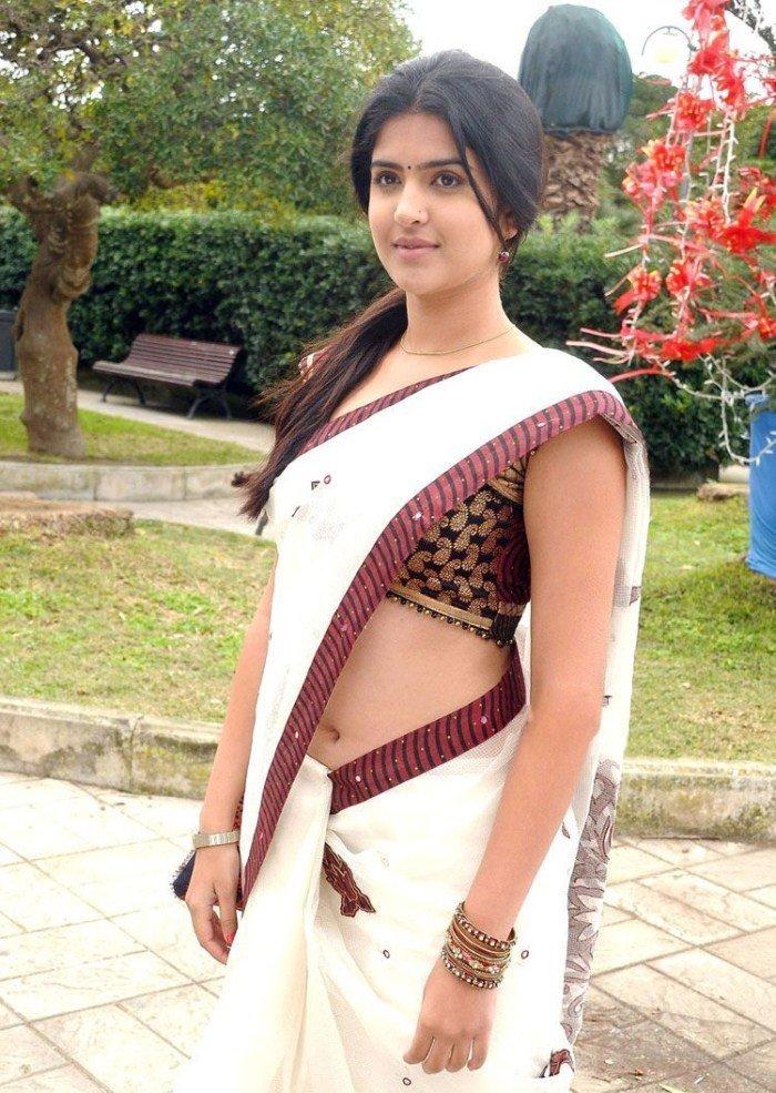 Deeksha seth white saree photos