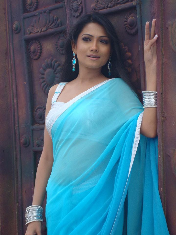 Deepika kamaiah blue saree photos