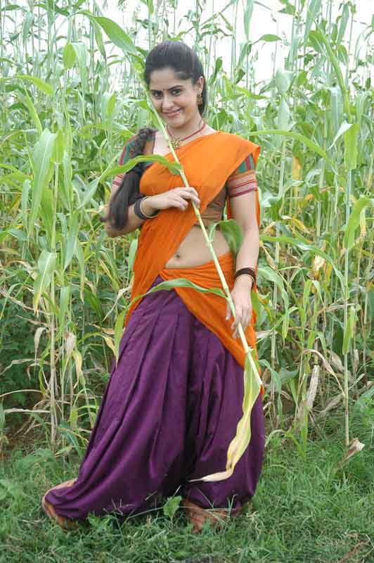 Farzana half saree in nature photos