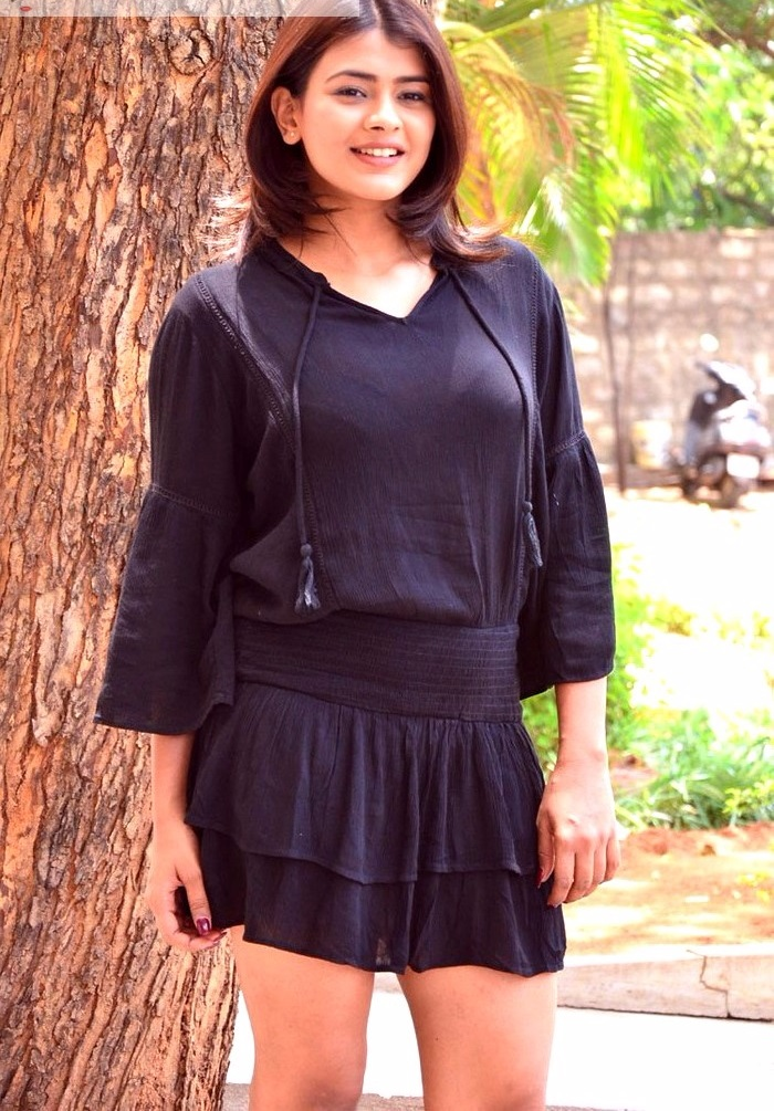 Hebah patel black dress photoshoot gallery