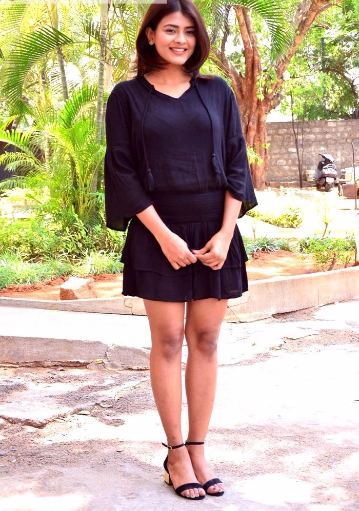 Hebah patel black dress unseen slideshow
