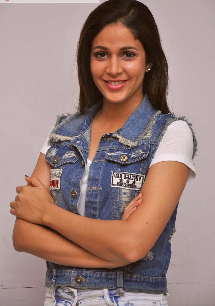 Lavanya tripathi blue and white dress beautiful pictures