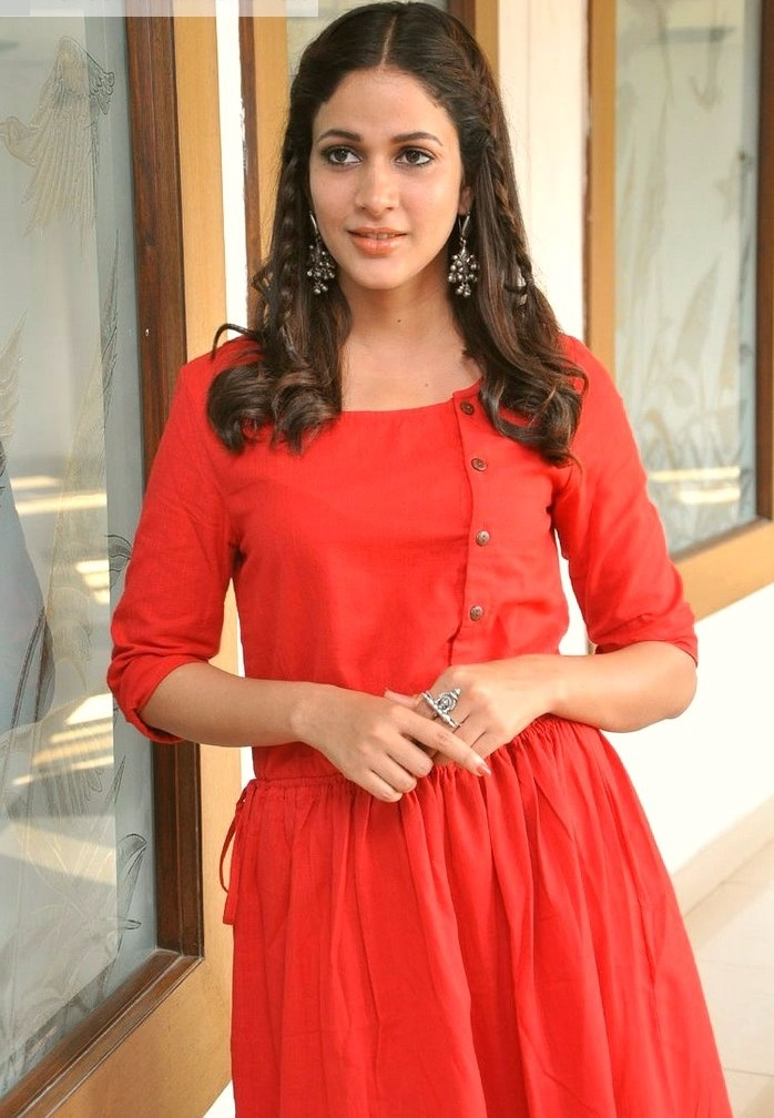Lavanya tripathi red dress pictures