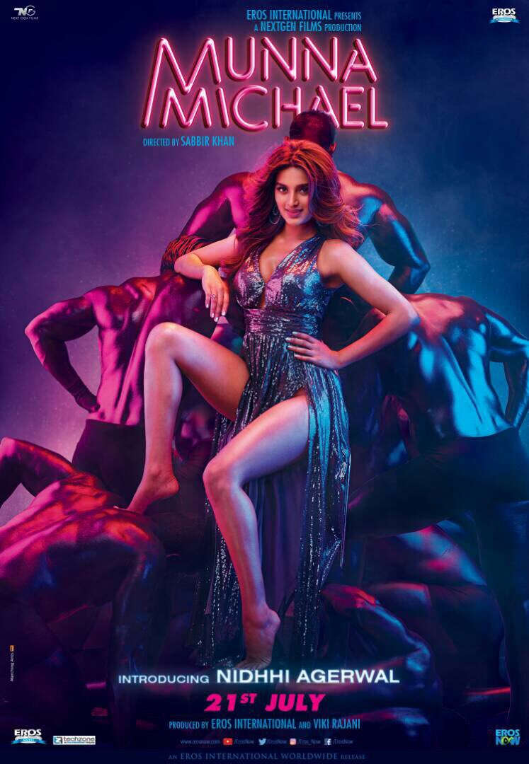 Nidhhi agerwal from munna michael film poster