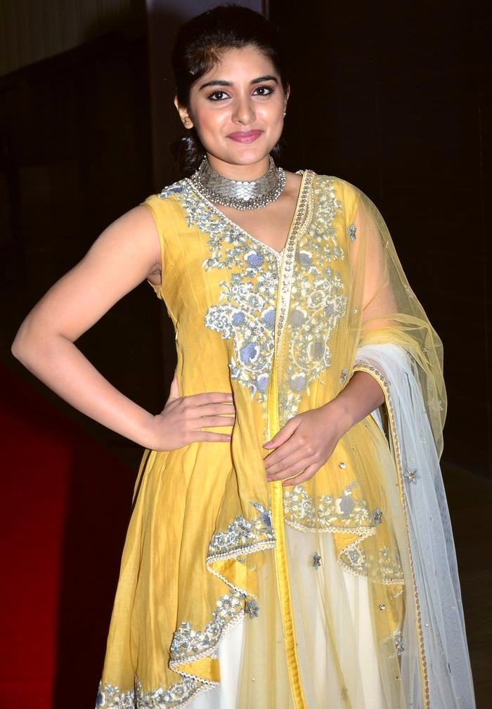 Nivetha thomas yellow dress fashion pictures