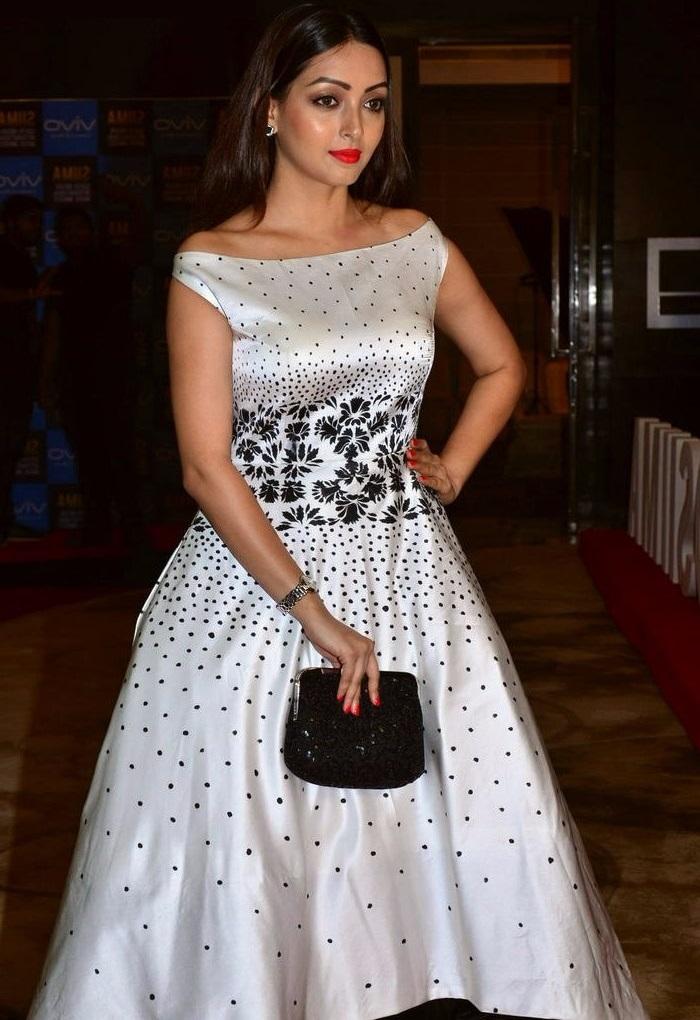 Pooja white dress modeling slide show