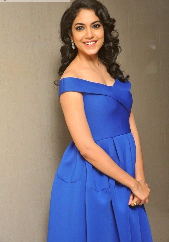 Ritu varma blue dress actress pictures