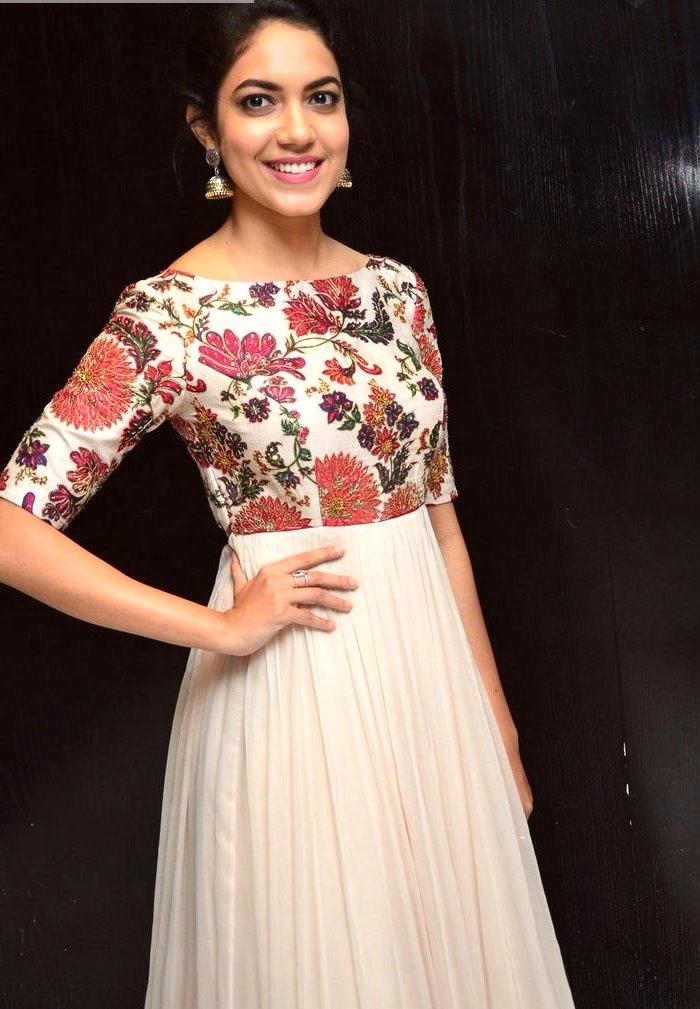 Ritu varma white dress wide stills