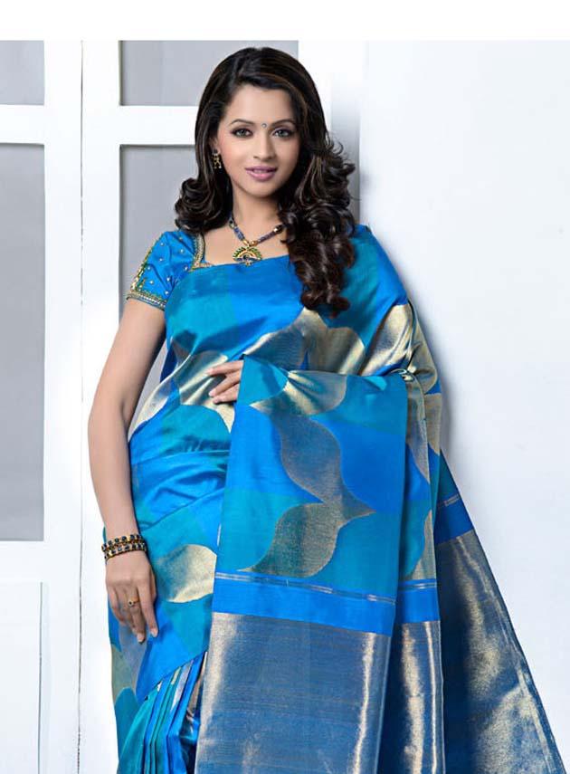 South indian actress bhavana saree pics