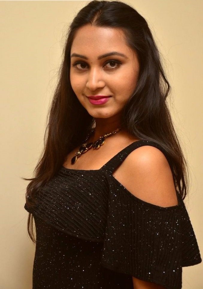 Amulya black dress exclusive photos