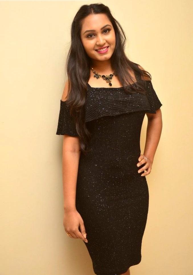 Amulya black dress stills