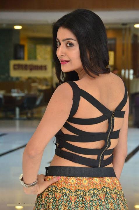 Avantika mishra black dress backless pics