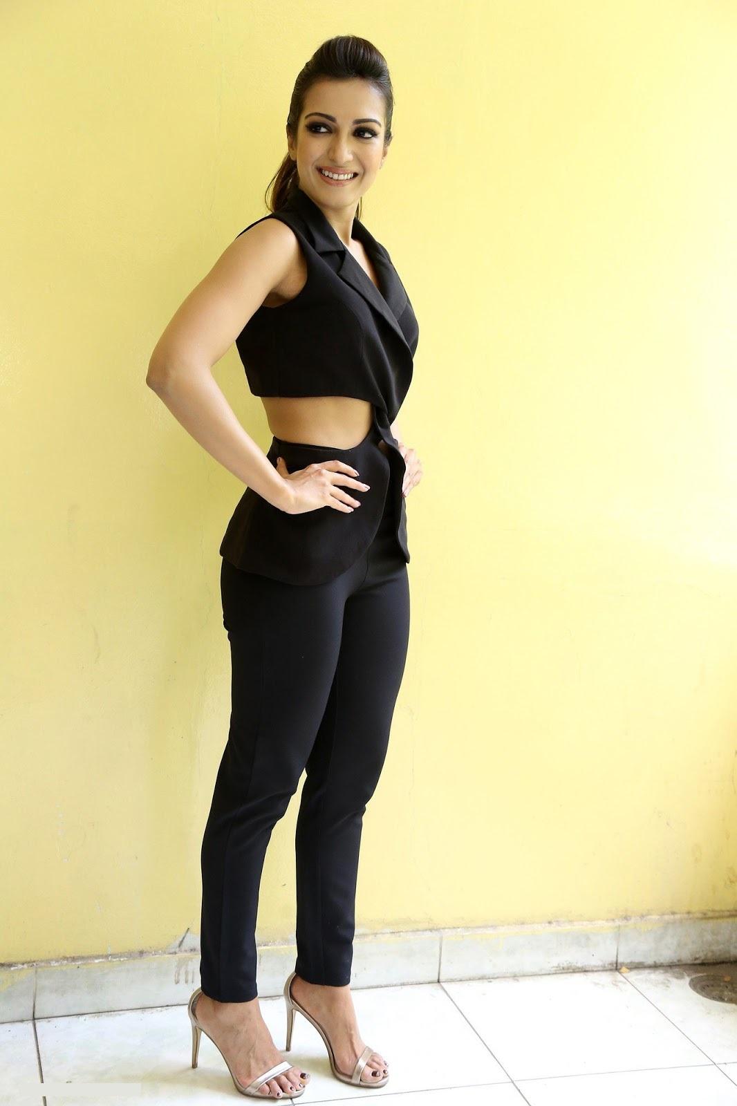 Catherine tresa interview black dress glamour image