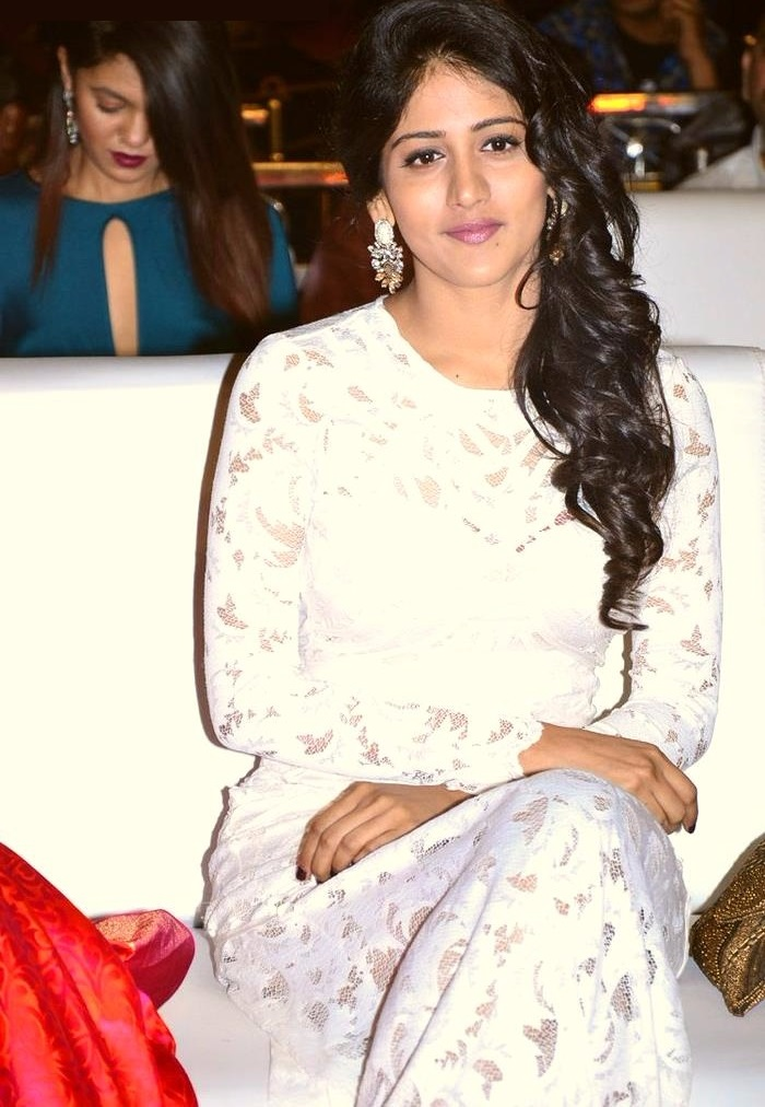 Chandini chowdary white dress modeling fotos